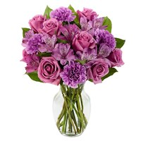 Perfectly purple flower bouquet (BF395-11K)
